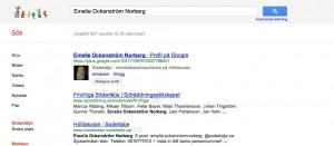 Emelie på google