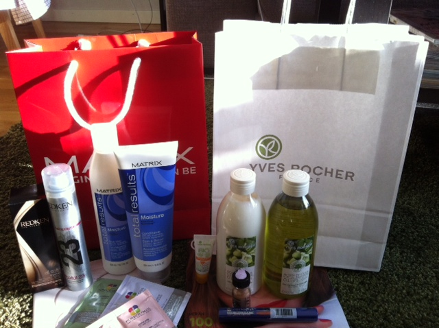 Goodiebags från Bangerhead och Yves Rocher