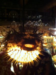 Blåsfisk lampa
