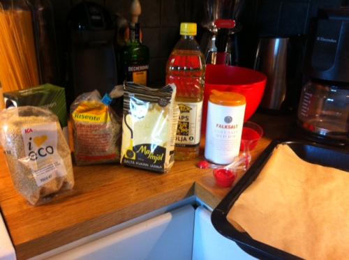 ingredienser för knäckebröd