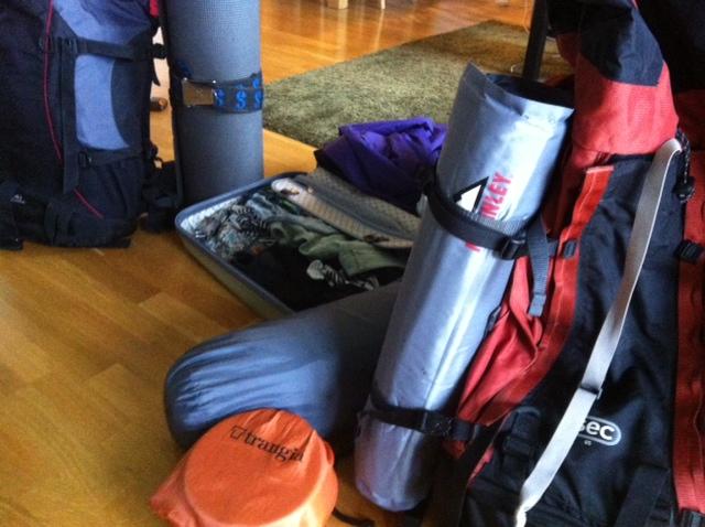 packar inför fjällturen