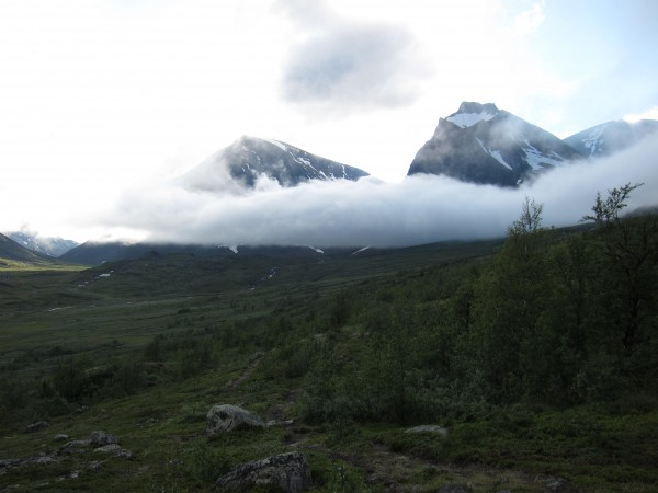 Uppe bland molnen i Kebnekaisefjällen