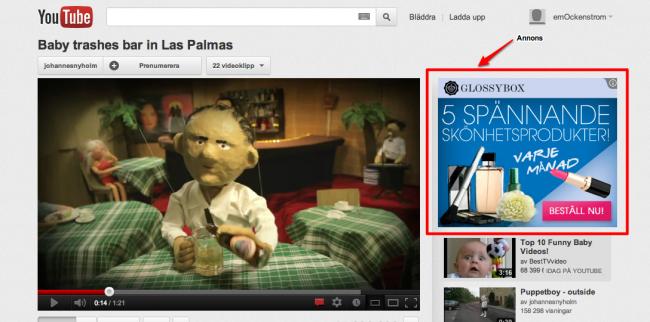 annons på youtube