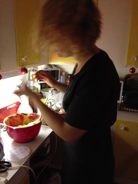 Julkaos i köket