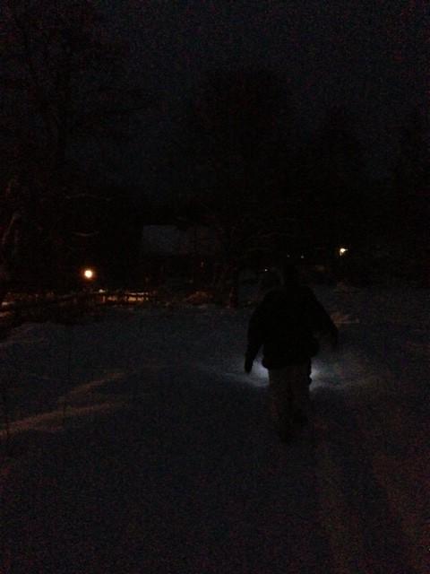 Promenad i julnatten