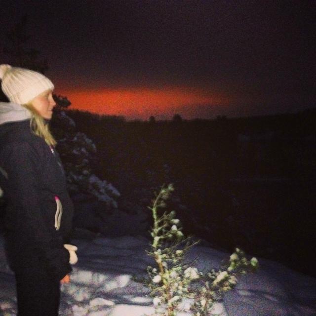 Vacker vinternatt