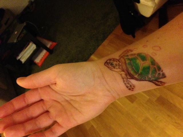 Sköldpadda tatuering