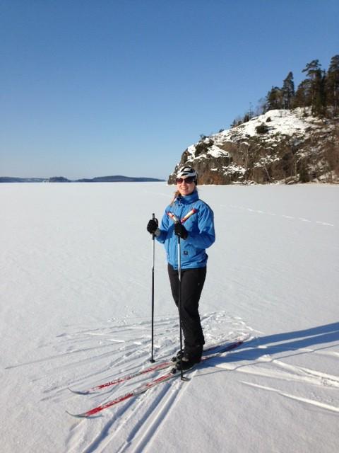 Jag på skidorna