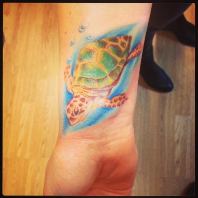 Tatuering-Sköldpadda