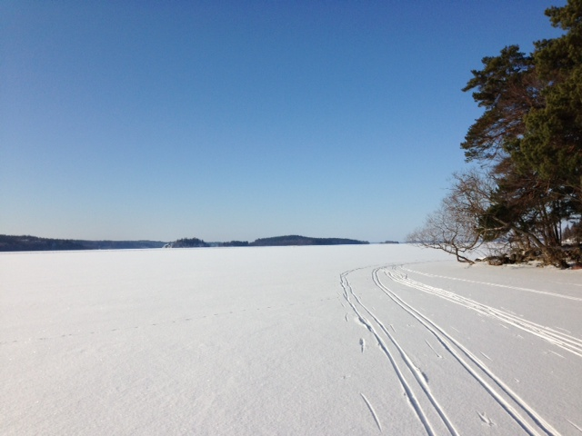 Vinter och is på Mälaren