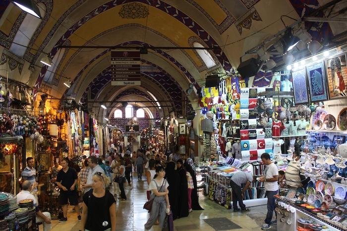 Marknad i Istanbul