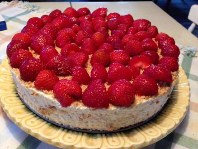 Cheesecake med jordgubbar