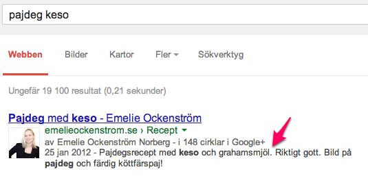 metabeskrivning på Google