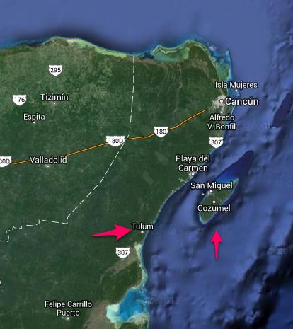 Tulum och Cozumel