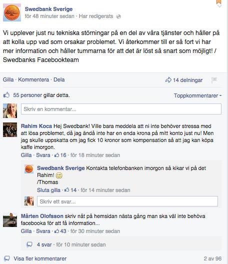 Swedbank - Facebook