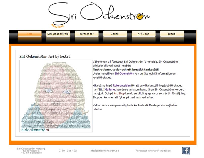Siri Ockenströms hemsida