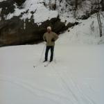 Pappa åker längdskidor