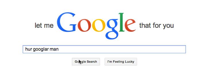 Hur googlar man